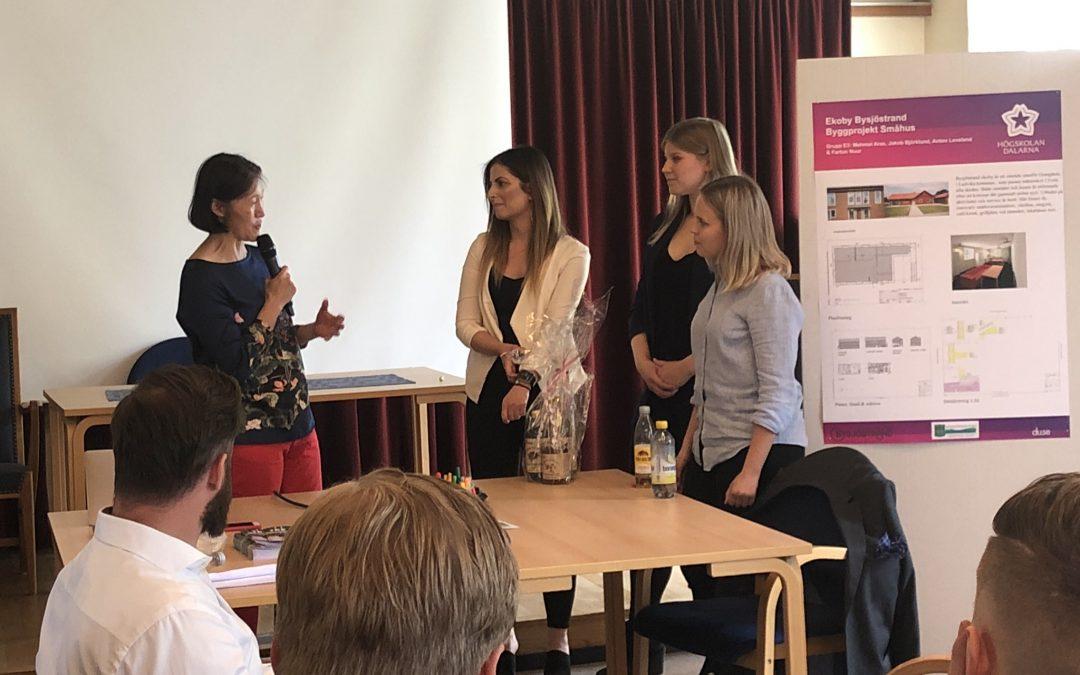 Vernissage av studenter från Bygglinjerna vid Högskolan i Dalarna