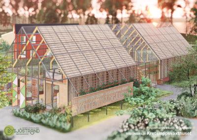 Visionsbild: Kretsloppsväxthuset / Vattenträdgården